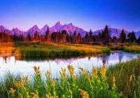 Summer Sunrise At Teton National Park