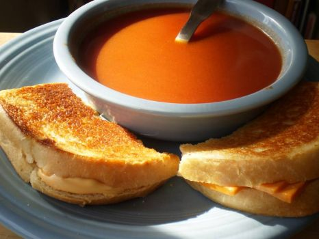 Grilled cheese and tomato soup!