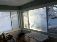 Porch windows last Winter