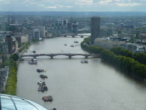 View of the River Thames London from the London Eye