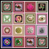 Just Pinks and Greens - Brooches