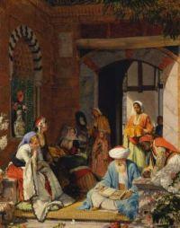 "John Frederick Lewis, ""And the Prayer of Faith Shall Save the Sick"", 1872."