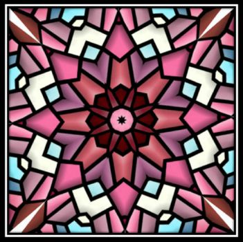 Stained glass style mosaic