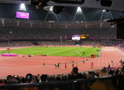 Men's 4x100m final London 2012 Olympics