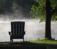 Misty morning in New Hampshire