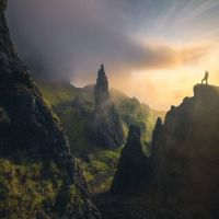 first light at the old man of storr