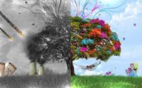 Two worlds, tree