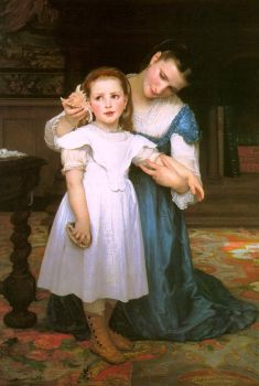 The Shell by Adolph William Bouguereau