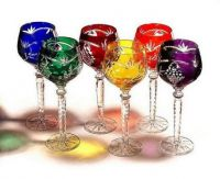 Blown & Etched Wine Glasses