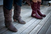boots on a deck
