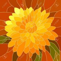 17207572-mosaic-with-large-cells-of-brightly-yellow-chrysanthemum-on-red--Stock-Vector