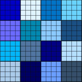 blue grids - xl