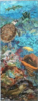 Art Quilt Up from the Depths Susan Carlson 2