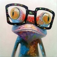 Happy Frog With Glasses