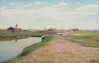 """Laurits Andersen Ring, """"The River and Harbour at Frederiksværk"""", 1900"""