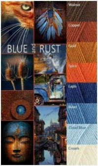 Blue and Rusts. . . wonderful together!