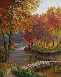 Country Bridge in Autumn