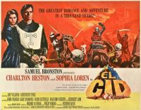 EL CID - 1961 ORIGINAL MOVIE POSTER  CHARLTON HESTON, SOPHIA LOREN