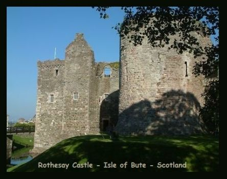 ROTHESAY CASTLE - ISLE OF BUTE - SCOTLAND