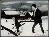 Abe Lincoln, The Good Samaritan (1943) ~ Horace Pippin