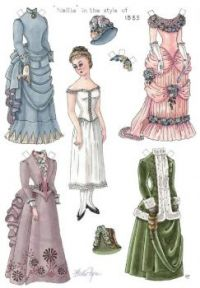 Paper Doll  Nellie ~~ Fashion of the Day ~ 1885