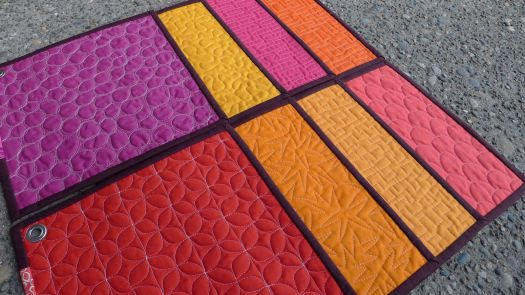 Fancy quilt stitching samplers