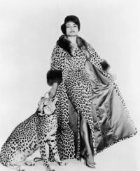 Eartha Kitt and cat