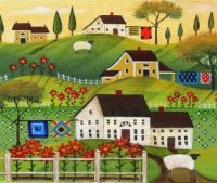 Sheep Sunflowers and Quilts by Cheryl Bartley