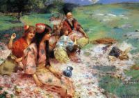Henry Siddons Mowbray - Rose Harvest
