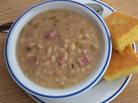 Beans and corn bread!!