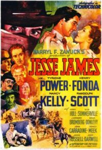 JESSE JAMES - 1939 MOVIE POSTER  TYRONE POWER, HENRY FONDA, NANCY KELLY