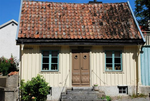 Old cottage in Visby, Sweden, by AstridWestvang