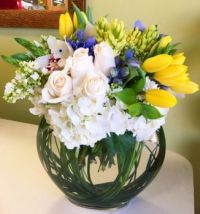 Happiness is.....Luxury Bowl of Flowers.