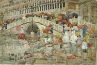 "Maurice Prendergast, ""Umbrellas in the Rain"""