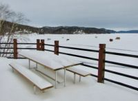 Ice Huts on Wawa Lake