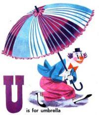 Alphabet U For Umbrella
