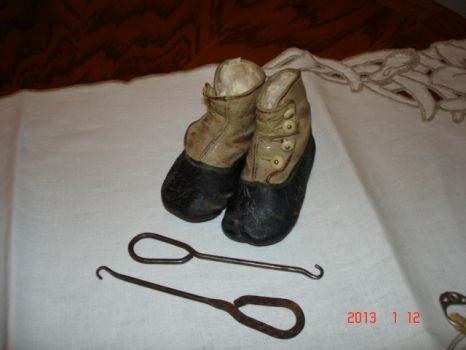 Art4Sight~Dad's Button Shoes & Buttonhooks