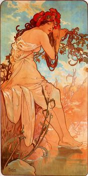 """Summer"" (1896) by Alphonse Maria Mucha."