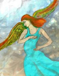 Angel.  ( Digital drawing. (ArtRage app.))