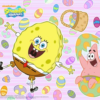 spongebob happy easter