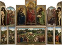 The Ghent Altarpiece, a 15th-century masterpiece by Hubert and Jan van Eyck.
