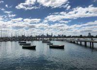 St Kilda Marina and Melbourne skyline