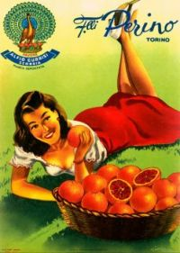Themes Vintage ads - Perino oranges