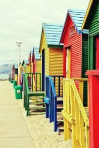 St James Beach Huts, Cape Town