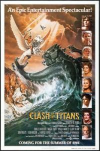 CLASH OF THE TITANS - 1981 UK TEASER POSTER - RAY HARRYHAUSEN