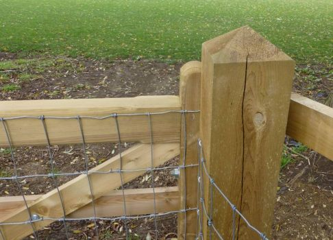 New gate post