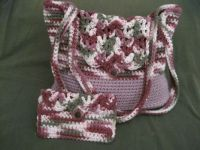 crochet bag and coin purse.