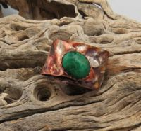 Malachite and Copper ring