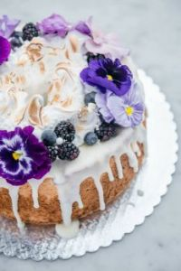 Lemon Blueberry Angel Food Cake