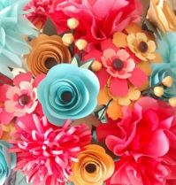 paper flower bouquet -small